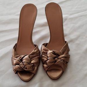 Salvatore Ferragamo Gold Heels - Size 5